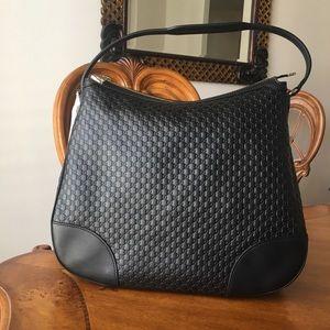 Gucci Bree Guccissima Black Hobo Bag